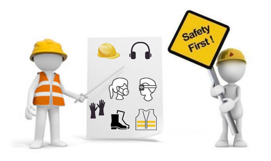 Priorité sécurité, de la tête aux pieds